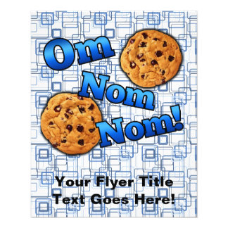 OM Nom Nom, biscoitos do amor de Meme Panfleto Personalizados