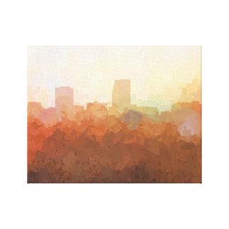 OMAHA, NEBRASKA, Skyline-nas canvas das nuvens