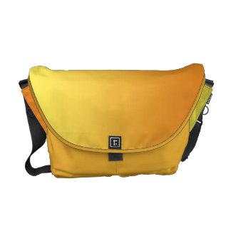 Ombre amarelo & alaranjado bolsa mensageiro