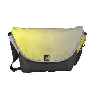 Ombre amarelo & cinzento bolsas mensageiro