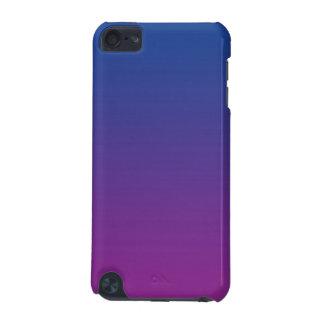 Ombre azul escuro & roxo capa para iPod touch 5G