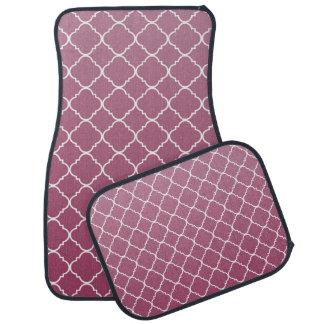 Ombre cor-de-rosa Quatrefoil Tapete De Carro