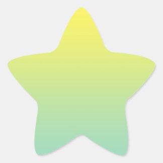 Ombre verde & amarelo adesito estrela