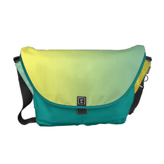 Ombre verde & amarelo bolsa mensageiro