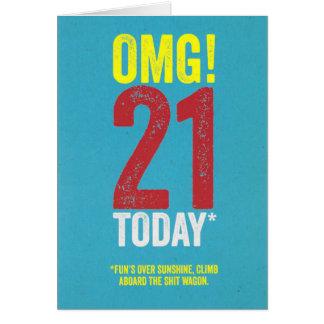 OMG 21 hoje! Cartão