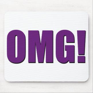 OMG! mousepad roxo