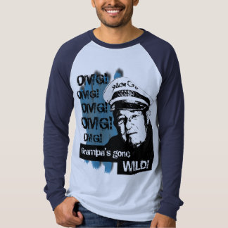 OMG! T do Raglan da Longo-luva (turquesa) Tshirt