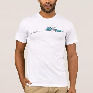 Onda abstrata (arte do surf) camiseta
