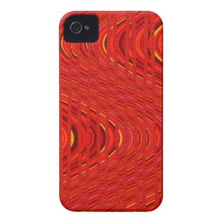 Onda das listras, caixa 4/4s Vermelha-iPhone Capinhas iPhone 4