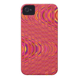 Onda das listras, caixa Cor-de-rosa-Alaranjada do Capinhas iPhone 4