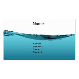 Onda de água azul cartões de visita