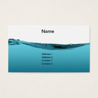Onda de água azul cartão de visitas