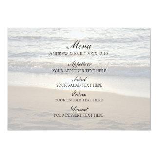 Onda do menu do casamento no por do sol convite 12.7 x 17.78cm