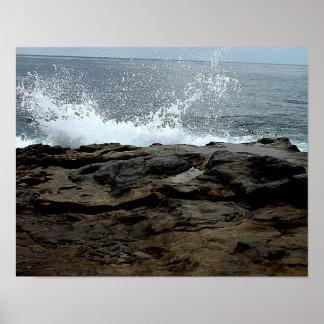 Onda do poster da fotografia da praia de pôster