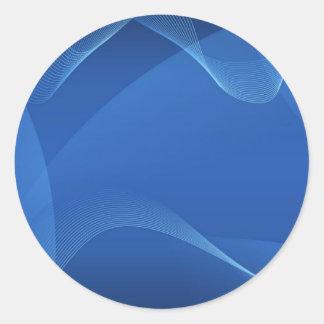 Ondas azuis adesivo