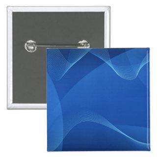 Ondas azuis bóton quadrado 5.08cm