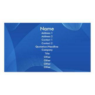 Ondas azuis cartão de visita