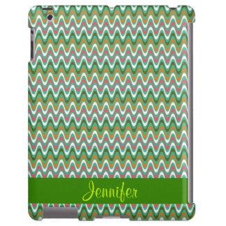Ondas coloridas, caso do iPad Capa Para iPad