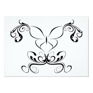 Ondas da borboleta convite 12.7 x 17.78cm