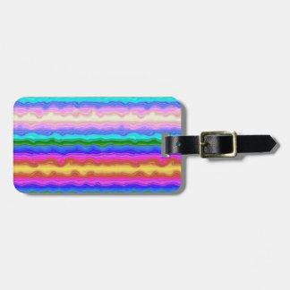 Ondas da cor personalizadas etiqueta de bagagem
