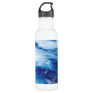 Ondas de água azul no oceano