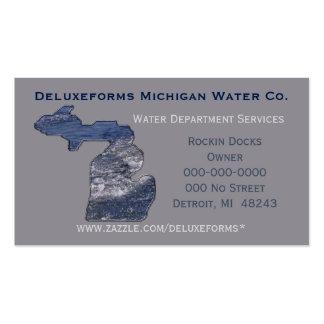 Ondas de água de Michigan Cartão De Visita
