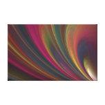 Ondas de areia macias coloridas impressão em tela canvas