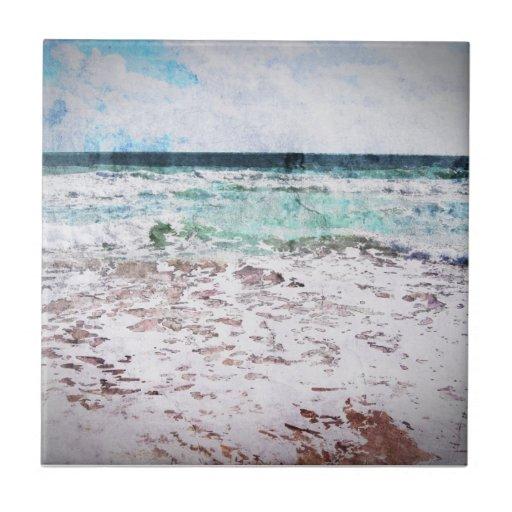 Ondas de Oceano Atlântico Azulejos