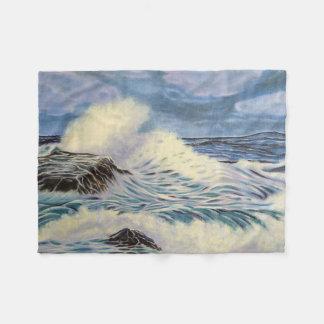 Ondas de oceano cobertor de lã
