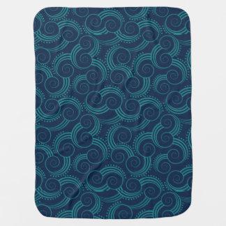 Ondas de oceano de Swirly Cobertorzinhos Para Bebe