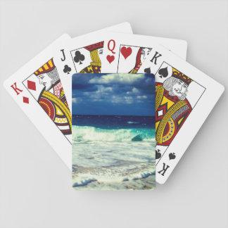 Ondas de oceano tropicais jogo de carta