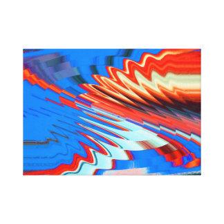 Ondas do abstrato impressão em tela canvas
