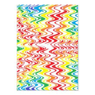 Ondas do arco-íris convite 12.7 x 17.78cm
