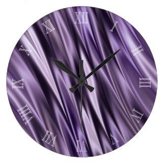 Ondas do preto do Lilac Relógio Grande