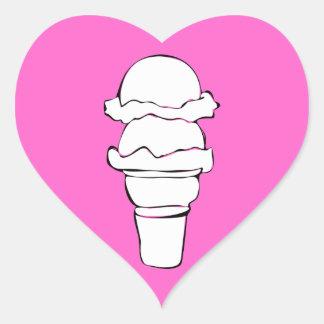 ondas do sorvete adesivo coração