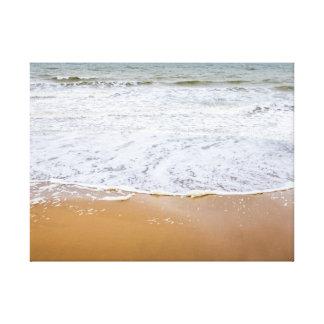 Ondas no impressão das canvas da praia