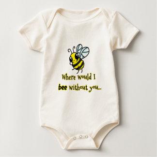 Onde abelha de I sem você Body Para Bebê