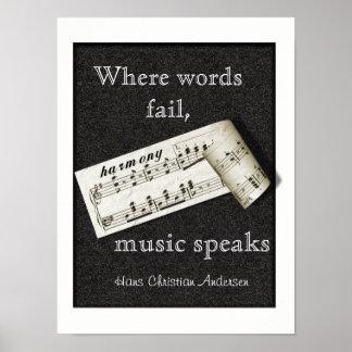 Onde as palavras falham -- Arte do poster
