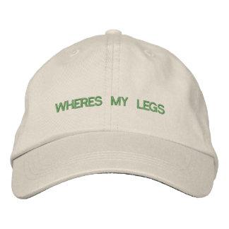 Onde está meu chapéu dos pés boné