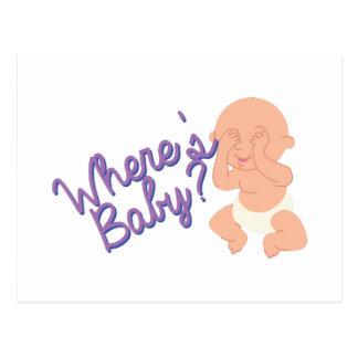 Onde está o bebê? cartão postal