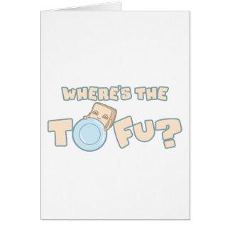 Onde está o cartão do Tofu