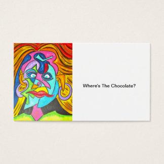 ONDE ESTÁ O CHOCOLATE? - Cartões de visitas da