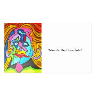 ONDE ESTÁ O CHOCOLATE? - Cartões de visitas da art