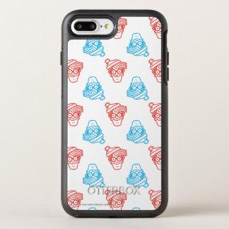 Onde está Waldo vermelho e azul enfrente o teste Capa Para iPhone 8 Plus/7 Plus OtterBox Symmetry