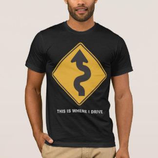 Onde eu conduzo camiseta