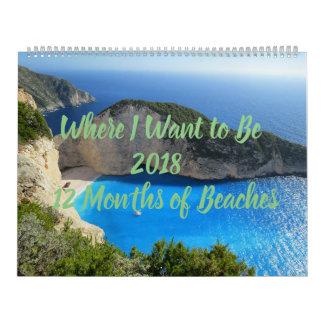 Onde eu quero ser 12-Months do calendário das