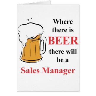 Onde há cerveja - gerente de vendas cartão de nota