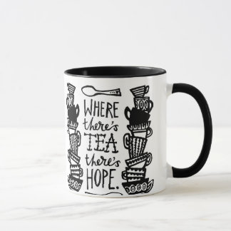 onde há chá há caneca da campainha da esperança