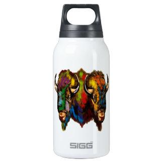 Onde o búfalo vagueia garrafa de água térmica