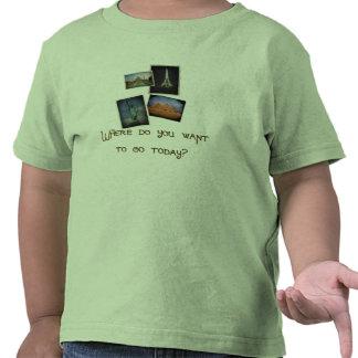 Onde você quer ir? t-shirts
